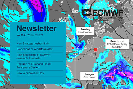 ECMWF Newsletter 166 cover page image